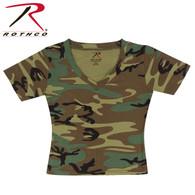 Rothco Womens Short Sleeve Camo V-Neck T-Shirt