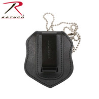 Rothco NYPD Style Leather Badge Holder With Clip