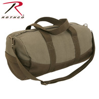 Rothco Two-Tone Canvas Duffle Bag With Brown Bottom