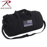 Rothco Thin Blue Line Canvas Shoulder Duffle Bag