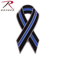 Rothco Thin Blue Line Ribbon Pin