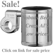 Kruzer Kaddy Chrome Cup Holder  Harley Honda Suzuki 4 Wheeler