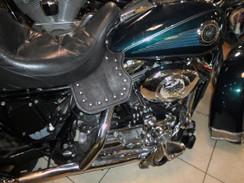 Harley Davidson Thigh and Saddle Heat Deflectors Plain Leather FLH FLST Studded