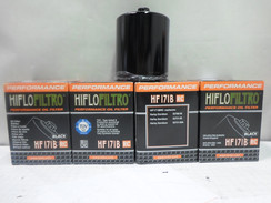 CHROME OIL FILTER LOT OF 4, FOR HARLEY TWIN CAM HIFLO-171C