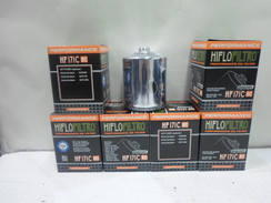 HIFLO CHROME OIL FILTER LOT OF 6 FOR HARLEY DAVIDSON TWIN CAM 171C