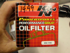 K&N Filters Oil Filter KN-172C CHROME FOR HARLEY 1980s FLH