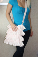 CIH131 - Off White Ruffle Purse