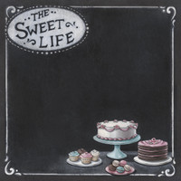"PA415 - ""Sweet life""   double sided paper"