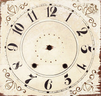 CIH058-8 - Square Clock Face - 8""