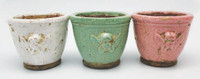 HC009 - Glazed Flower Pot Green