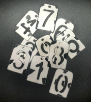"CIH034W - Stencil Numbers-1.25"" White"