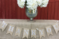 "PS13 - ""Thank You"" Burlap Banner"