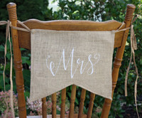 "PS17 - ""MrS"" Burlap Chair Backer"