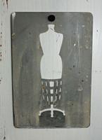"""CIH283 Metal Stencil 4"""" x 6"""" - Dress Form"""