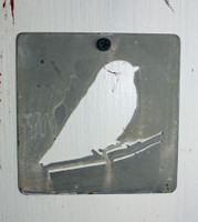 "CIH277 - Metal Stencil 4"" x 4"" - Bird"