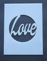 "Love (circle) 3x4"""