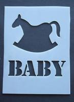"Baby Rocking Horse 3x4"""