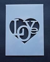 """Love (heart) 3x4"""""""