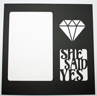 She Said Yes - Black Over White