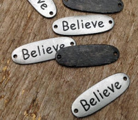 Believe Bracelet Band Charm-Rounded Edges