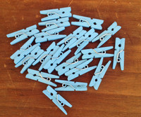 Clothespins-Blue-Set of 20
