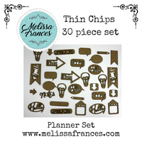 Thin Chips-Planner Set-30 pcs