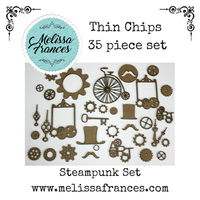 Thin Chips-Steam Punk Set-35 pcs