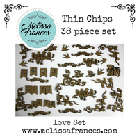 Thin Chips-Love Set-38 pcs