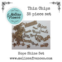 Thin Chips-Hope, Shine Words Set-35 pcs