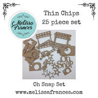 Thin Chips-Oh Snap Set-25 pcs
