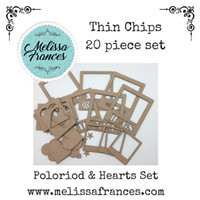 Thin Chips-Polaroids & Hearts Set-20 pcs