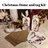 Christmas Dome and Tag Kit - dome kit and 12 tags * FREE shipping!!!!