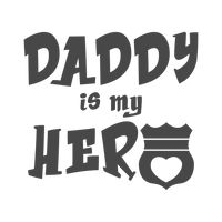 Daddy is my hero Red Rubber Stamp