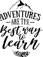 Adventures are the Best Way to Learn Red Rubber Stamp