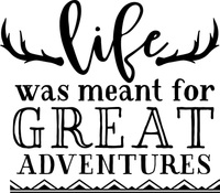 Life was meant for great adventure Red Rubber Stamp
