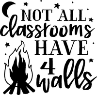 Not all classrooms have 4 walls Red Rubber Stamp