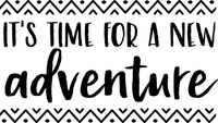 It't Time for a new Adventure Red Rubber Stamp