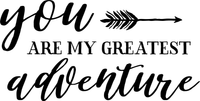 You are my Greatest Adventure Red Rubber Stamp