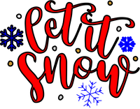 Let it Snow Red Rubber Stamp