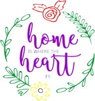 Home is Where the Heart is Red Rubber Stamp