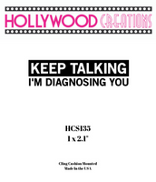 Keep Talking I am Diagnosing You Red Rubber Stamp