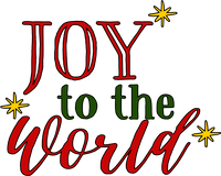 Joy to the World Red Rubber Stamp