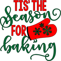 Tis the Season for Baking Red Rubber Stamp