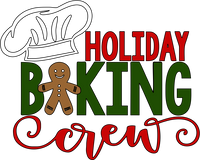 Holiday Baking Crew Red Rubber Stamp