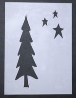 "Tree With Stars 3x4"""