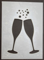 Champagne Glasses 3x4""