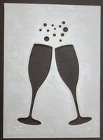 "Champagne Glasses 3x4"""