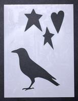 """Bird, Stars, Heart 3x4"""""""