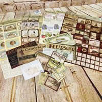 Vintage Cut Outs Sheets and Sticker Packs