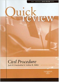 QUICK REVIEW ON CIVIL PROCEDURE (7TH, 2008) 9780314191175